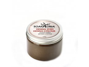 soaphoria bylinna barvici smes na vlasy z henny hneda