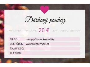 darkovy poukaz 20 eur
