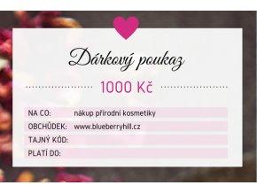 darkovy poukaz 1000 kc