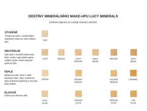 Lucy Minerals minerální make-up 10 g