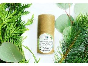 biorythme bezsody prirodni deodorant v papirovem obalu v lese najde s se