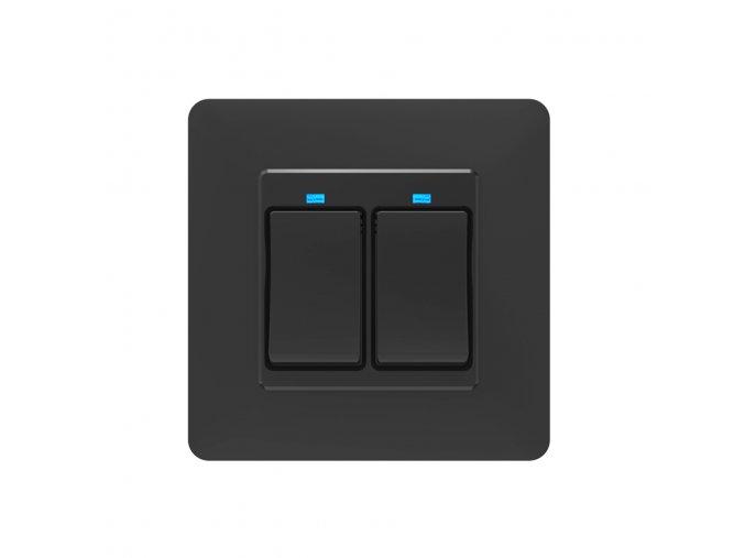SOLO Chytrý vypínač osvětlení GAMA TWO tlačítkový černý
