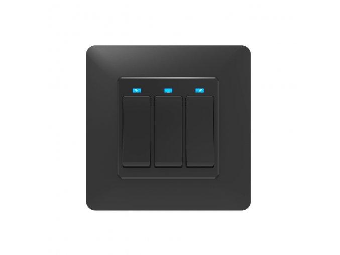 SOLO Chytrý vypínač osvětlení GAMA THREE tlačítkový černý