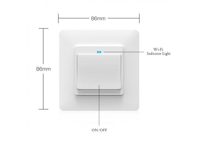 SOLO Chytrý vypínač osvětlení GAMA ONE tlačítkový bílý