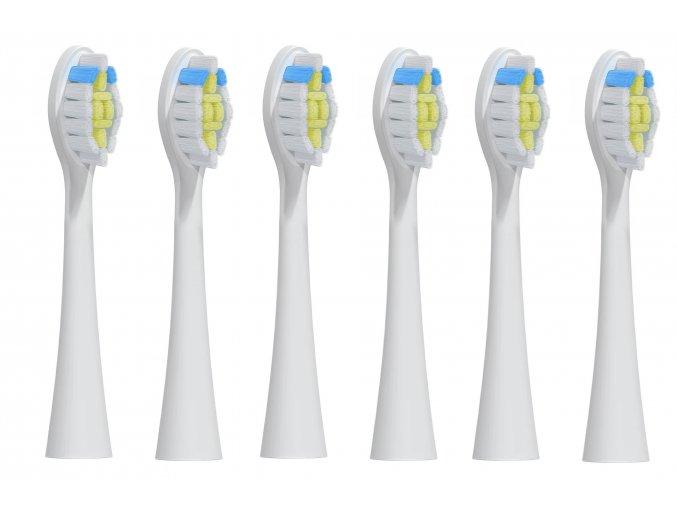 Náhradní kompatibilní hlavice k zubním kartáčkům Philips Sonicare W Optimal White HX6066/10 - 6 ks