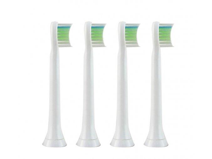 Náhradní kompatibilní hlavice k zubním kartáčkům Philips Sonicare W Optimal White Mini - HX6074/27 - 4ks