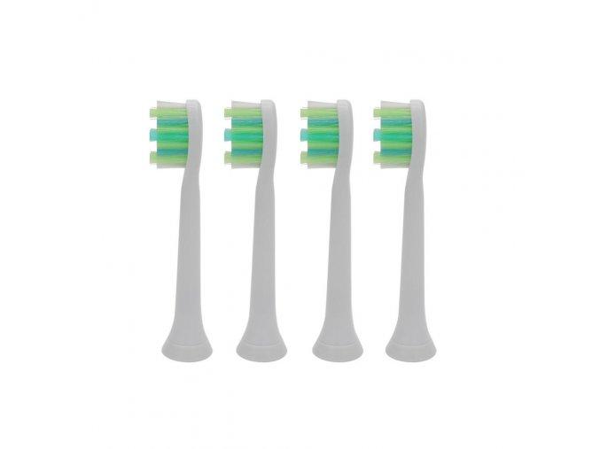 Náhradní kompatibilní hlavice na elek. zubní kartáčky Philips Sonicare Standart Intercare HX9004 - 4 ks