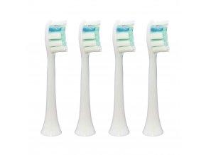 Náhradní kompatibilní hlavice na elek. zubní kartáčky Philips Sonicare Plaque defense HX9024 - 4 ks