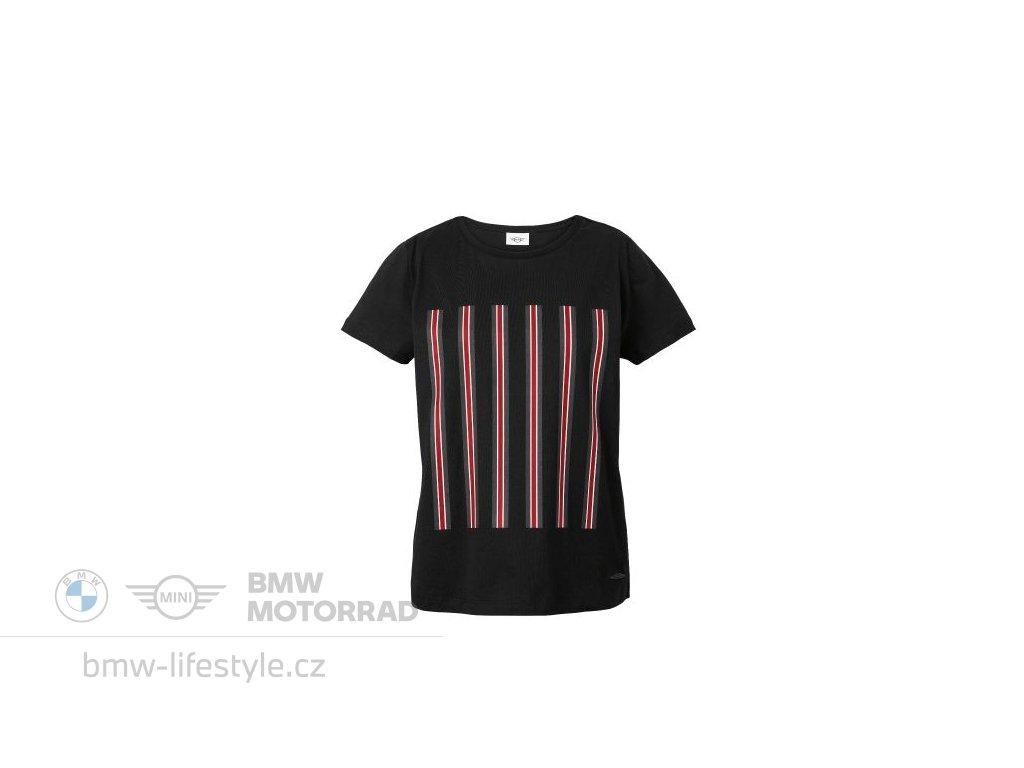 Dámské triko MINI JCW Stripes černé (Velikost XL)