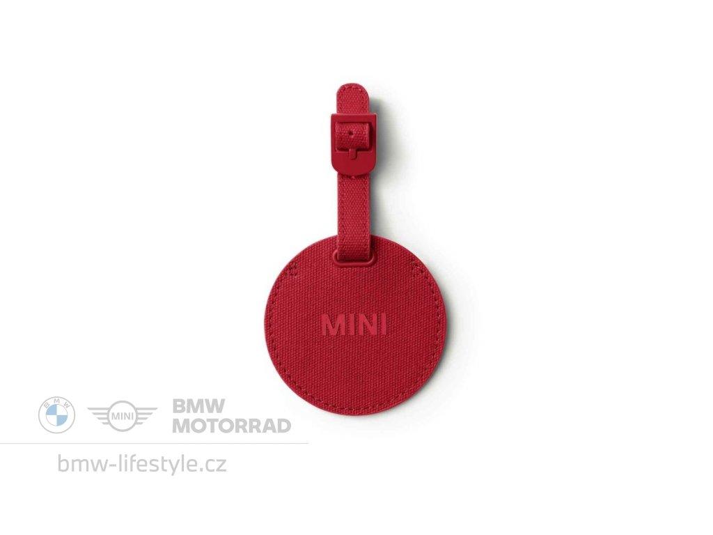 59512 mini jmenovka na zavazadla chilli red