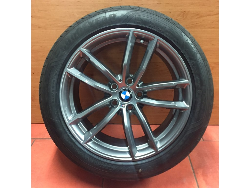 Letní sada alu kola BMW 5 G30, G31 STYLING M662 8x18 a 9x18 5/112 ET30 a ET44 včetně pneumatik 245/45 R18 a 275/40 R18 GOODYEAR EAGLE F1 RSC a čidel tlaku RDC