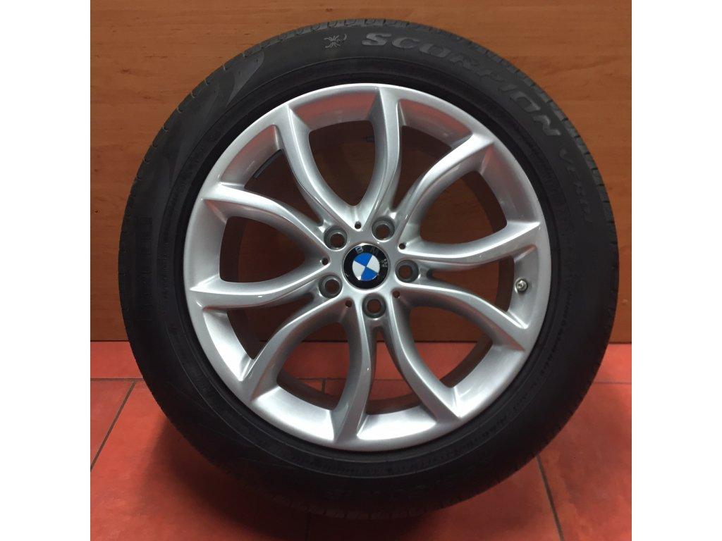 Letní sada alu kola BMW X6 F16 STYLING 594 9x19 5/120 ET48 a ET18 s pneu Pirelli Verde RSC a čidel tlaku RDC