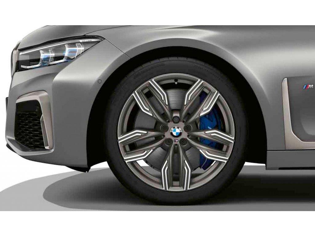 Originální letní sada BMW 7 G11 STYLING M760 v rozměrech 8,5x20 ET25 a 10x20 ET41 včetně pneumatik 245/40 R20 99Y XL a 275/35 R20 102Y XL Pirelli P Zero RSC* a čidel tlaku RDCi