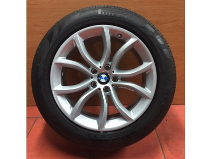 Letní sada alu kola BMW X6 F16 STYLING 594 9x19 5/120 ET48 a ET18 včetně letních pneumatik 255/50 R19 107W Pirelli Verde RSC a čidel tlaku RDC