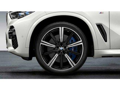 Letní sada BMW X5 G05 a BMWX6 G06 STYLING M749 Performance v rozměrech 9,5x22 ET37 a 10,5x22 ET43 včetně pneumatik 275/35 R22 104Y a 315/30 R22 107Y Pirelli P Zero a čidel tlaku RDCi