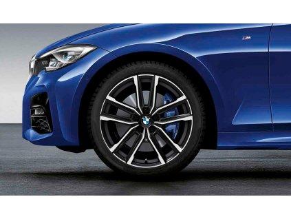 Originální letní sada BMW 3 G20 a BMW 4 G22 STYLING M797 v rozměru 8x19 ET27 a 8,5x19 ET40 včetně pneumatik 225/40 R19 93Y XL a 255/35 R19 96Y XL Pirelli P Zero* RSC a čidel tlaku RDCi.