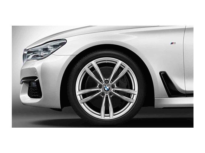 Zimní sada alu kola BMW 7 G11, BMW 6 GT G32 STYLING M647 8,5x19 5/112 ET25 včetně zimních pneumatik 245/45 R19 102V GOODYEAR UG8 RSC a čidel tlaku RDC