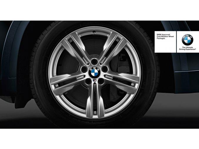 Zimní sada alu kola BMW X5 F15 STYLING M467 9x19 5/120 ET37 včetně zimních pneumatik 255/50 R19 107V Micheli LA2 ZP*