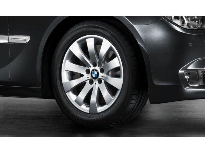 Zimní sada alu kola BMW 7 F01, GT 07 STYLING 250 8x18 5/120 ET30 včetně zimních pneu 245/50 R18 HANKOOK Winter RSC a čidel tlaku RDC