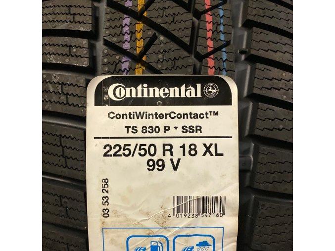 Zimní pneumatiky 225/50 R18 99V Continental TS830 P* SSR pro BMW X1 F48, X2 F49, 3 GT  F34