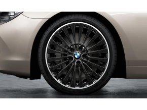 Letní sada BMW 5 F10 STYLING 410 leskle černé 8,5x20 ET33 a 9x20 ET44 včetně pneumatik 245/35 R20 95Y a 275/30 R20 97Y Dunlop SP Sport Maxx GT* RSC a čidel tlaku RDC