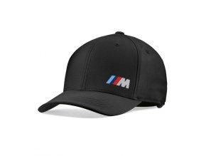 czapka z daszkiem z kolorowym logo bmw m czarna unisex 1