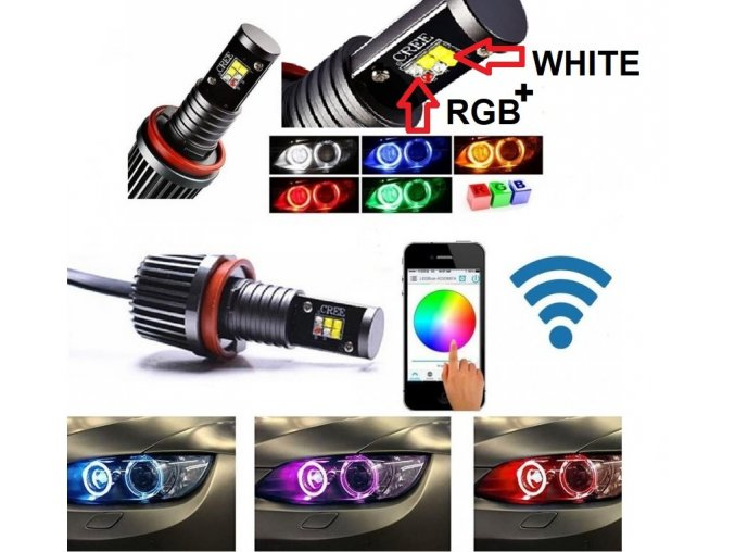 BMW ANGEL EYES RGB LED MARKER H8/60W Wi-Fi