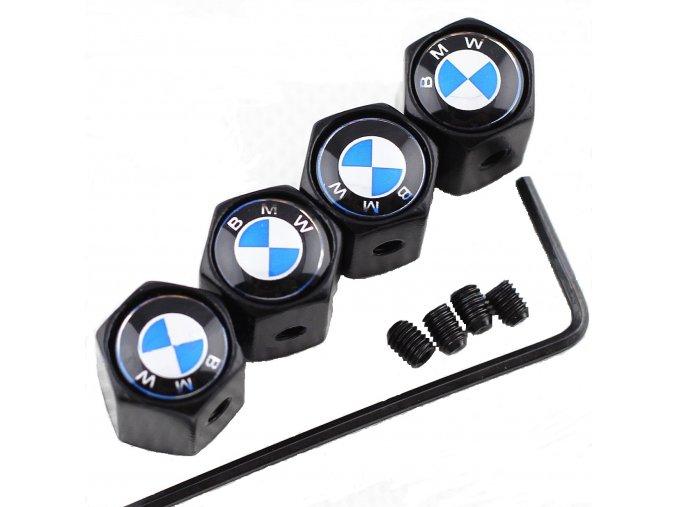 Anti theft Black Metal Car Wheel Tyre Tire Stem