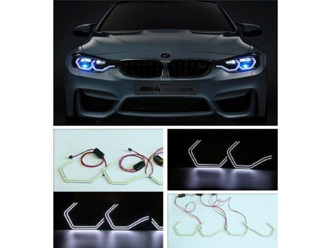 KROUŽKY BMW ICONIC LED BÍLÁ