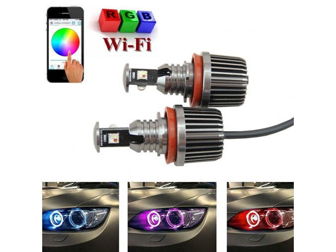 BMW ANGEL EYES RGB LED MARKER H8/40W Wi-Fi