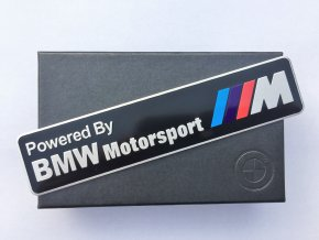 PLAKETA - BMW POWERED BY MOTORSPORT M