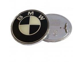 ZNAK BMW 74MM ČERNÁ BEIGE