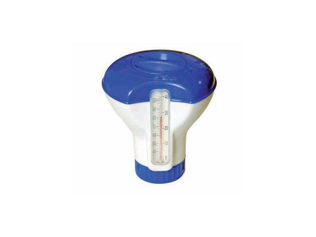 Plovoucí dávkovač chemie malý s teploměrem 5