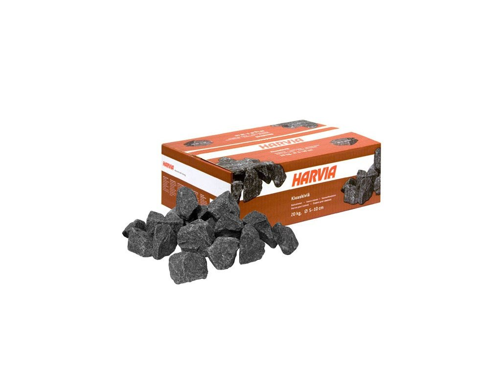 Saunové kameny 20kg; průměr 5-10cm; červené