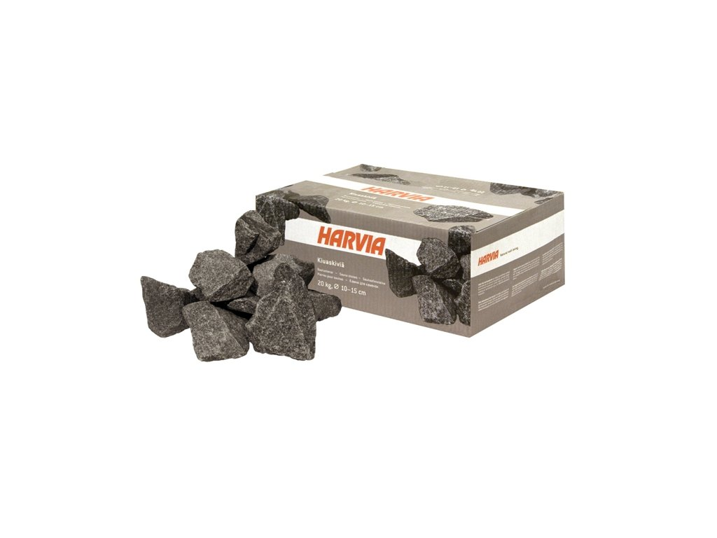 Saunové kameny 20kg; průměr 10-15cm; šedé