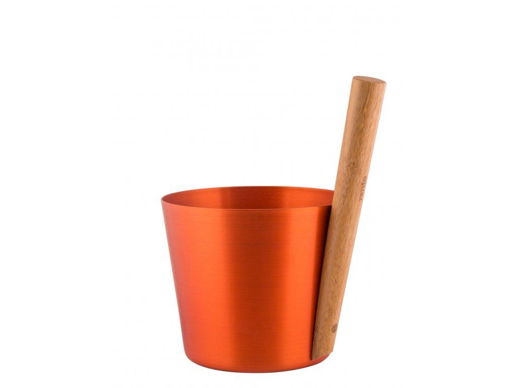 RENTO Saunový kbelík AL 5 l, cihlově oranžová