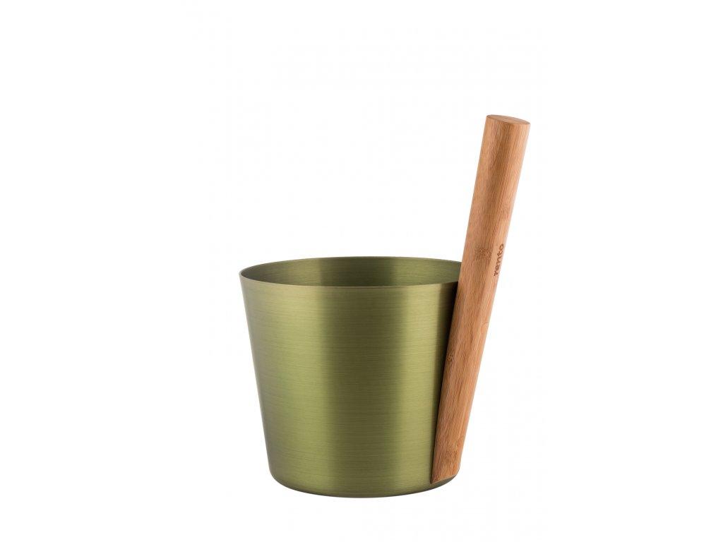 RENTO Saunový kbelík AL 5 l, břízově zelená