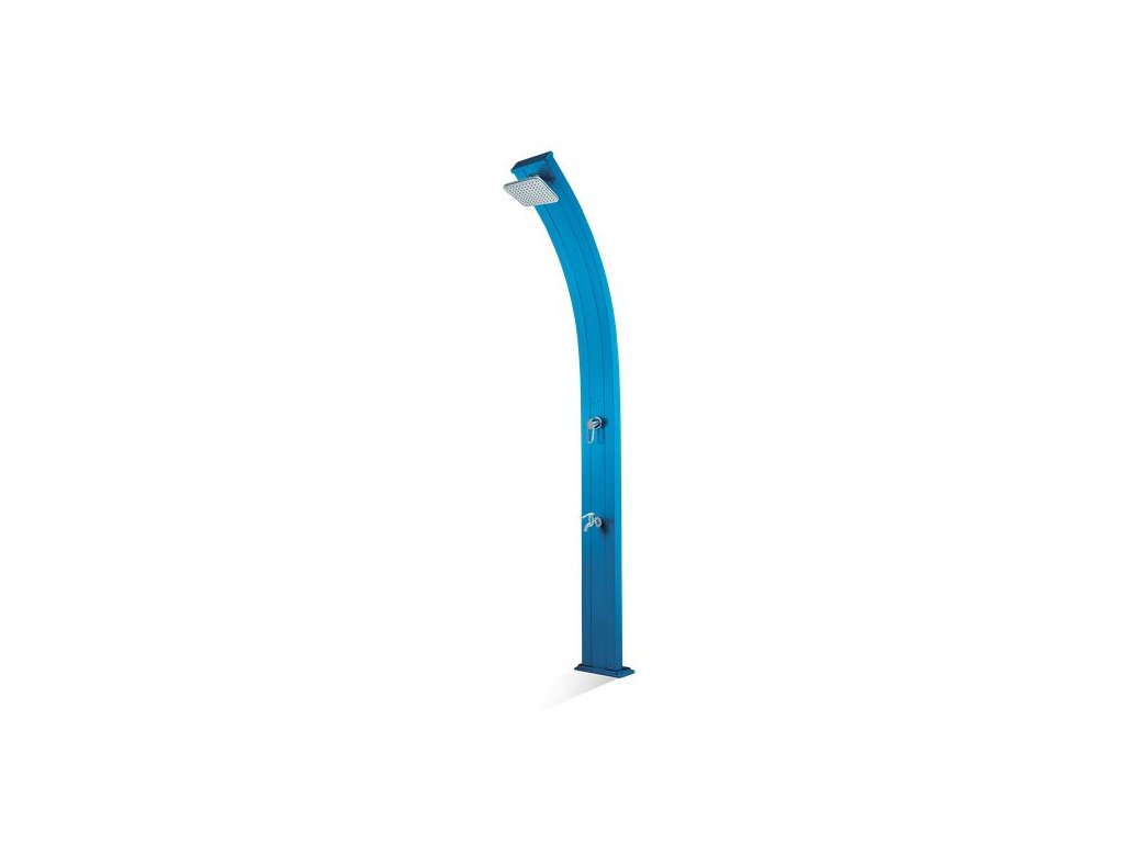 Solární sprcha s oplachem nohou SPRING modrá