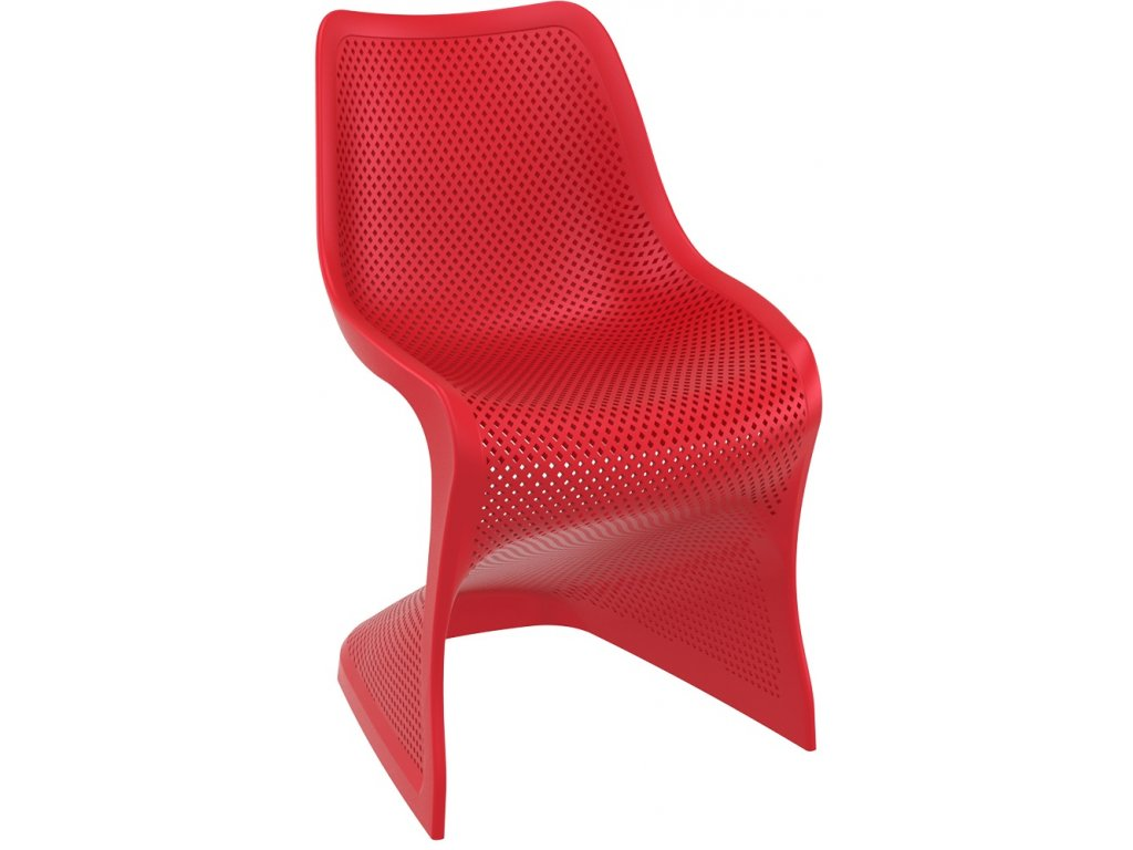 hanscraft židle bloom siesta exclusive zahradní nábytek červená (3)