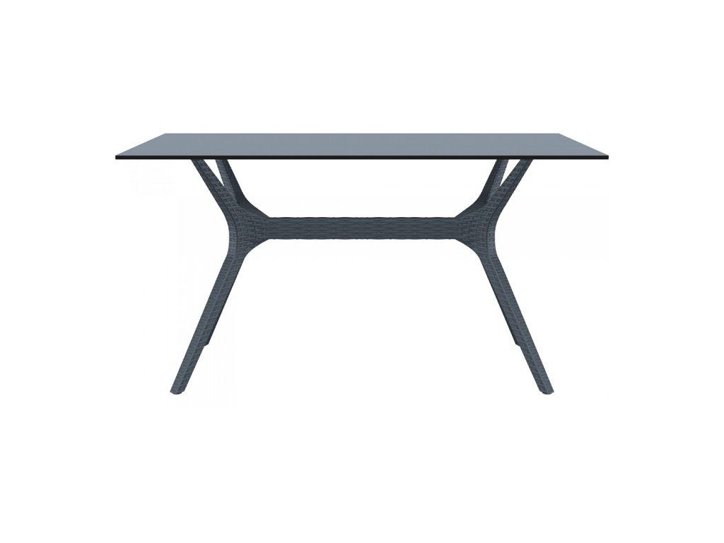 SIESTA EXCLUSIVE; Stůl IBIZA 140 šedý