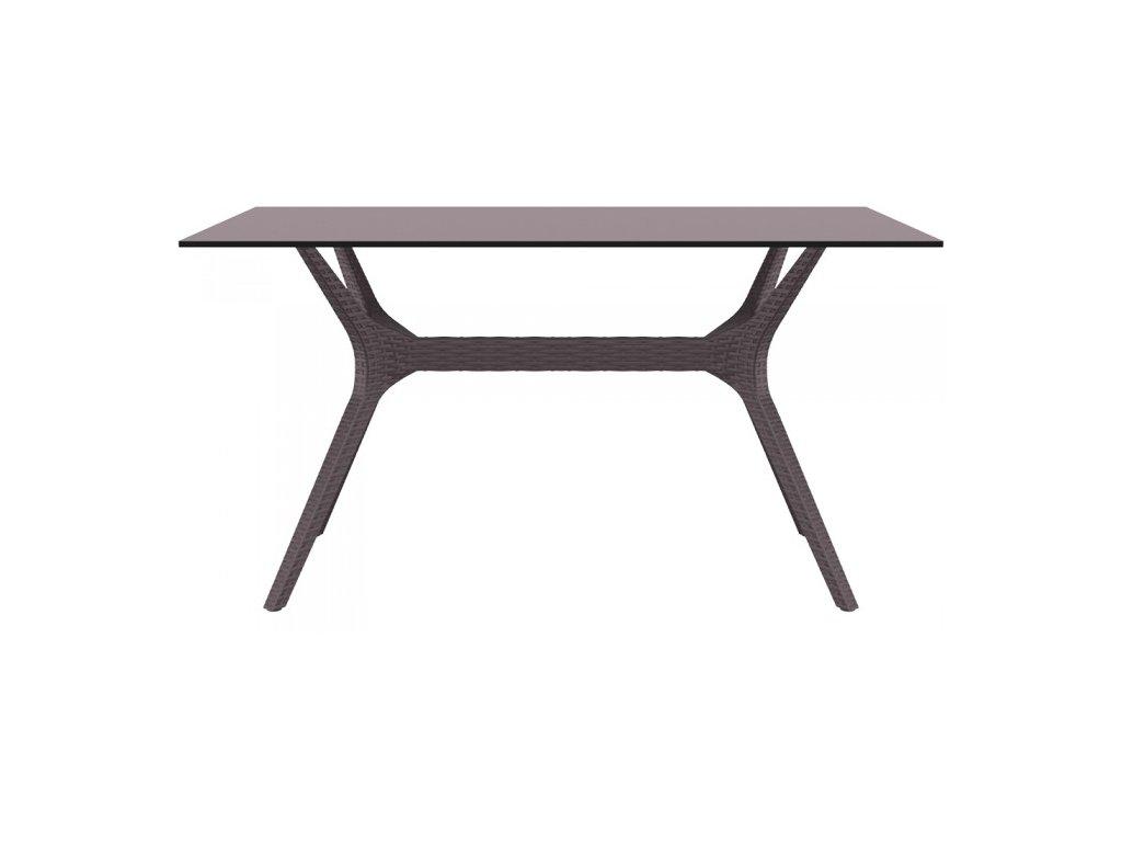 SIESTA EXCLUSIVE; Stůl IBIZA 140 hnědý