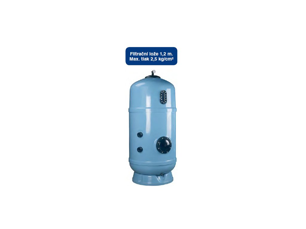 Filtr Delta 1200 - vnitřní průměr filtru 800 mm, falešné dno se vzduchovými tryskami