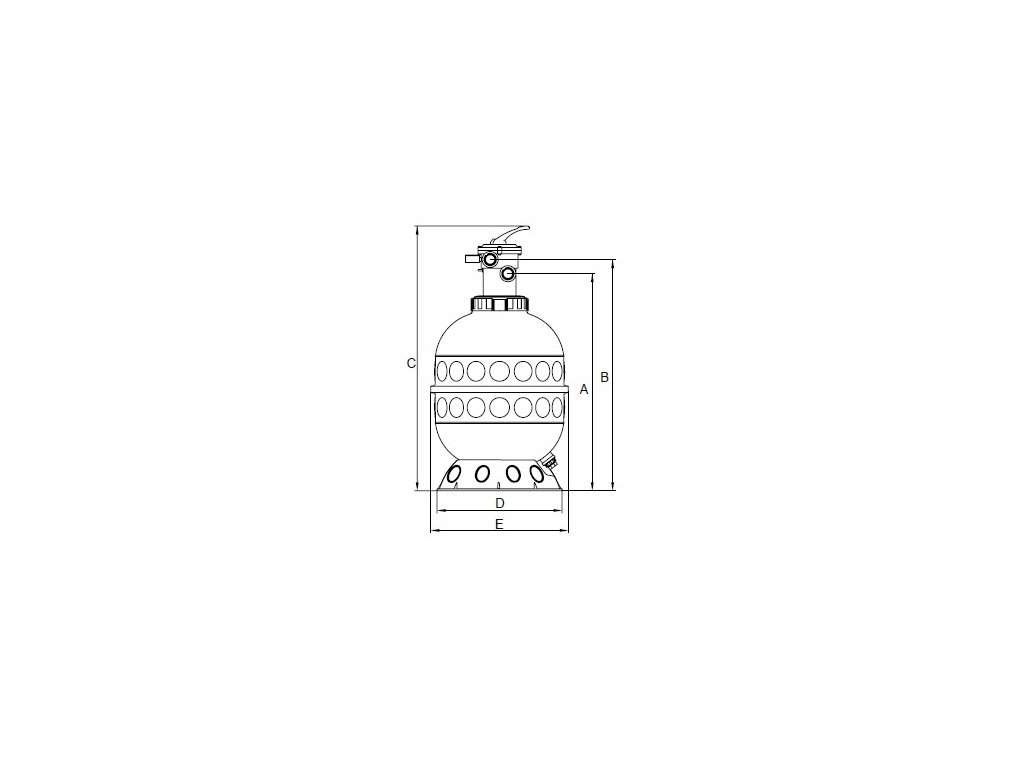 Písková filtrace GRANADA 400 TOP– 6 m³/h