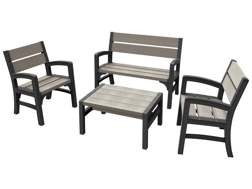 17205049 wood look feel bench set 6682 rgb