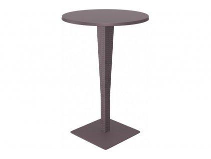 SIESTA EXCLUSIVE; Barový stůl RIVA hnědý