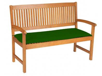 Sedák na lavici 3 sedadla 150x45cm zelená