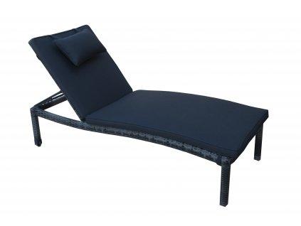 Havanna De Luxe Black Pearl - polohovací ratanové zahradní lehátko - ROZBALENÉ