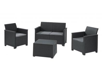 EMMA 2 seaters sofa set - grafit