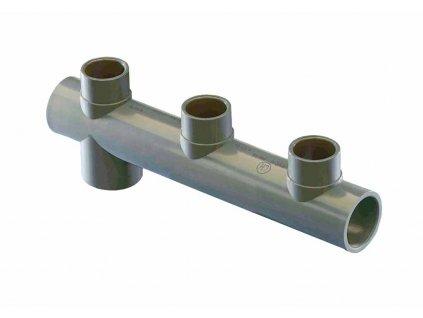 Trojcestné potrubí - středové
