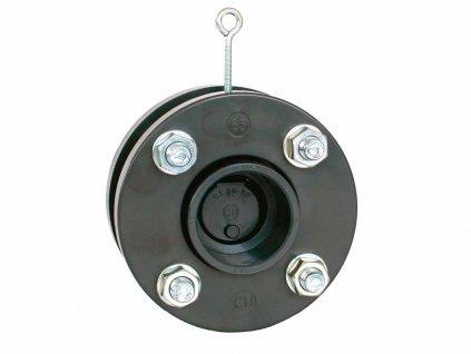 Zpětná klapka s pružinou a přírubou 75 mm